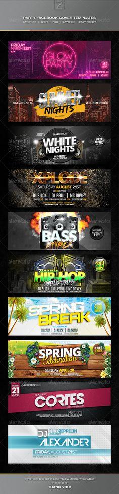 Party Facebook Cover Templates