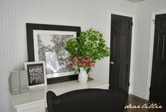 Dear Lillie / Door Color - Mopboard Black by Benjamin Moore in Semi-gloss Finish