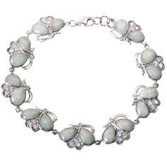 EXP Jade  Sterling Silver Bracelet -