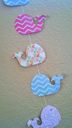 Whale Baby Shower Decoration. Whale garland!