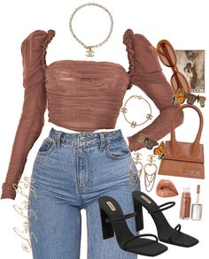 Discover outfit ideas for made with the shoplook outfit maker. How to wear ideas for Lunchak and ! Teen Fashion Outfits, Swag Outfits, Mode Outfits, Retro Outfits, Cute Casual Outfits, Look Fashion, Stylish Outfits, Girl Outfits, Prep Fashion
