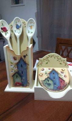Arte Country, Pintura Country, Country Paintings, Ideas Para, Ale, Decoupage, Diy And Crafts, Stencils, Wooden Crafts