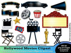 Hollywood+Walk+Of+Fame+Theme+Party | Hollywood Movies Clipart by Annie Lang
