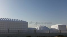 25mx15m Cube joined to 10m Dome joined to 6m Cube. Install time 10 hours! #Dryspace is at #Eclipse #Dubai until 17th April. Come and see what we could do for you. engage@dryspace.ae