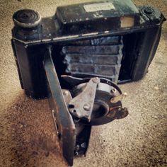 Old Kodak photo camera; hawk-eye, bellows.. #Kodak #camera #cameras #hawk-eye #bellows #antique #retro #vintage #life #antique #collection #oldies #art #photography