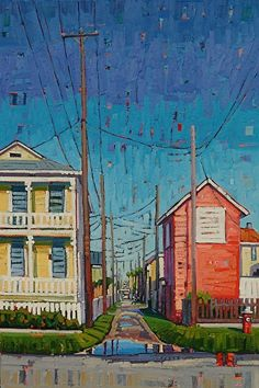 """""""North of Broadway,"""" by Rene Wiley by Rene' Wiley Gallery Oil ~ 36 x 24"""