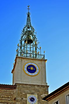 PERPIGNAN -  Cathédrale St Jean Baptiste - Clocher rénové - ( Pyrénées Orientales - 66 - France Perpignan France, St Jean Baptiste, Big Clocks, Automata, Pyrenees, Tic Tac, Photos, Tower, Travel