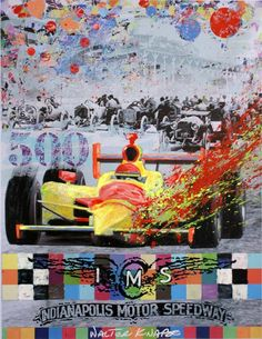 Official Indy 500 Artwork by Indiana Design Center artist, Walter Knabe