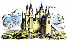 The Original Art of Narnia (article and pictures) Pauline Baynes: Cair Paravel.