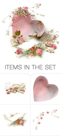 """""""Heart With Flowers"""" by kari-c ❤ liked on Polyvore featuring art"""