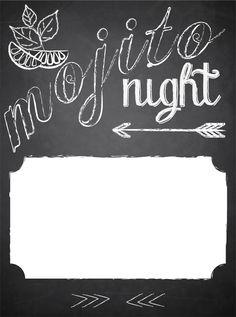 mojito party invitation