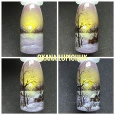 Winter Nails Designs - My Cool Nail Designs Simple Nail Art Designs, Diy Nail Designs, Winter Nail Designs, Winter Nail Art, Winter Nails, Nail Drawing, Airbrush Nails, Crazy Nail Art, Galaxy Nails