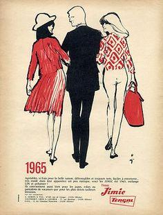 Tergal (Textile) Jimic 1955 René Gruau, Fashion Illustration