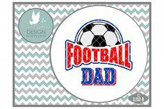 Football Dad UK British Football Cutting File LL152B  SVG DXF EPS AI JPG PNG from DesignBundles.net