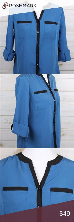 NWOT NY Collection Blue Blouse NWOT - Never Worn - Great Condition - NWOT NY Collection Blue Blouse - Day to night Look NY Collection Tops Blouses