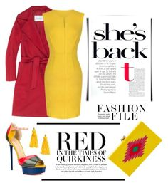 """""""Include Red"""" by conch-lady ❤ liked on Polyvore featuring mode, MaxMara, Charlotte Olympia et H&M"""