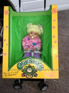 Homemade Cabbage Patch Doll Costume | For Kids Ideas: this made me choke laughing!! Freaken adorable! I had a cabbage patch kids costume when I was a little girl that I demanded to wear two years in a row for Halloween.. Love it!