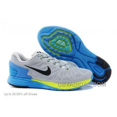 finest selection 1feaf b1306 Nike Men s Running Shoes LunarGlide 6 Magnet Grey Photo Blue Volt Christmas  Deals, Price
