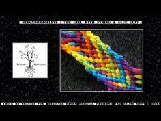 ► Friendship Bracelet Tutorial 27 - Beginner - Neon Rainbow