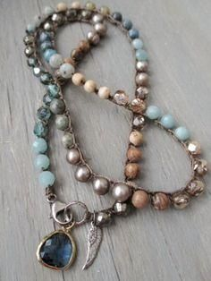 Colorful crochet wrap bracelet necklace anklet The by slashKnots Bohemian Jewelry, Beaded Jewelry, Jewelry Necklaces, Handmade Jewelry, Beaded Bracelets, Jewelry Box, Jewelry Trends, Jewelry Accessories, Diy Accessories
