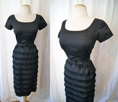 Reserved Timeless 1950's little black cocktail by wearitagain, $195.00