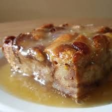 Old-Fashioned Bread and Butter Pudding with Whiskey Sauce