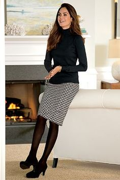 Shop Chadwicks of Boston for our Wool Pencil Skirt. Browse our online catalog for more classic clothing, shoes & accessories to finish your look. Cute Work Outfits, Summer Work Outfits, Casual Outfits, Modest Work Outfits, Classy Outfits, Work Fashion, Modest Fashion, Style Fashion, Feminine Fashion