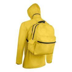 Chubasquero 2 en 1 con mochila incorporada en poliester 190T.