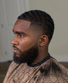 Black Man Haircut Fade, Black Men Haircuts, Black Men Hairstyles, Urban Hairstyles, Mens Braids Hairstyles, Fresh Haircuts, Afro Fade, New Year Hairstyle, Waves Haircut