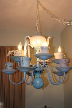 etsy -tea cup chandelier