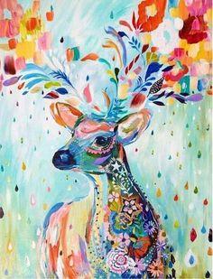 L'huile By Numéros Toile Elk Image Cerf Coloration Peinture Acrylique Peinture Calligraphie By Nombre Mur Dé Art Inspo, Painting Inspiration, Art And Illustration, Kit Pintura, Ouvrages D'art, Art Mural, Painting & Drawing, Diy Painting, Basic Painting