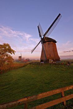Windmills at Schermerhorn, Netherlands