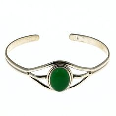 Sterling Silver Bracelet Green Onyx Handmade Traditional Jewelry Indian ShalinIndia. $93.26. Sterling silver 925. Made in India. Diameter: 2.5 Inches. Weight: 16 Gram. Original gemstone beads. Save 40%!