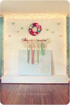holiday fireplace from Danielle Thompson on Design Sponge