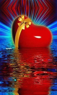 Heart in water Beautiful Gif, Beautiful Pictures, Water Live Wallpaper, Coeur Gif, Corazones Gif, Beau Gif, Animated Heart, Foto Gif, I Love Heart