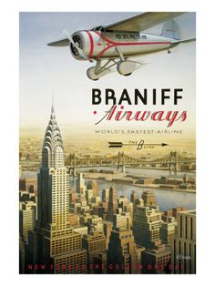 Braniff Airways from posters.com