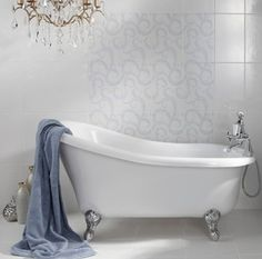 Marchmont by Laura Ashley - Bathroom Tiles - Tiles Best Bathroom Tiles, French Bathroom, Victorian Bathroom, Bathroom Tile Designs, Bathroom Flooring, Small Bathroom, Bathroom Ideas, Blue Bathrooms, Bathroom Marble