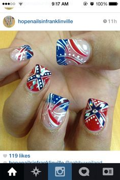 Rebel flag nails, doing this for the fourth of July Camo Nail Designs, Fingernail Designs, Nail Art Designs, Redneck Nails, Rebel Flag Nails, Nail Desighns, Country Nails, Patriotic Nails, Bubble