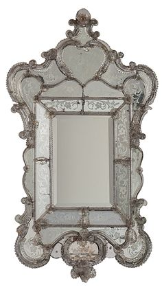 Venetian Etched Glass Mirror                                                                                                                                                                                 More