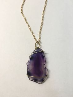 Violet Agate Wire Wrapped Necklace https://www.etsy.com/listing/269756402/violet-agate-wire-wrapped-necklace