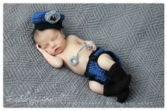 Police officer hat diaper cover and by TrebleStitchBoutique, $35.00
