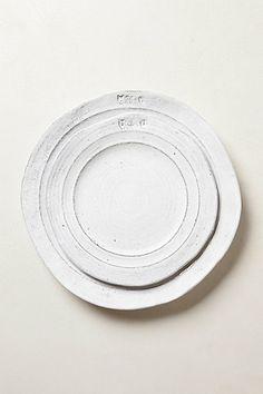 simple white plates