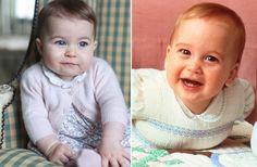 32 Jahre liegen zwischen diesen beiden Bildern: Links Prinzessin Charlotte, rechts ihr Papa, Prinz William,in etwa demselben Alter