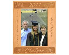 Looking for that perfect graduation gift for a loved one? This personalized graduation frame is the ideal way for your loved one to remember their accomplishment. This reversed engraved Alderwood frame from Gift Works Plus is personalized with the gradu Graduation Frames, College Graduation Photos, Graduation Gifts, Picture Frames, High School, Delicate, Touch, Create, Wood