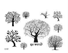 minimalist tree tattoo