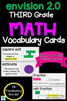 granite city math vocabulary