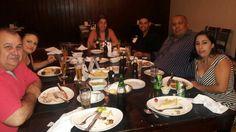 Jantar com filhas e genros