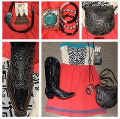 Love this sassy new dress & accessories!  Perfect outfit for your summer concerts!  Get the look @ Southern Thread in Austin, TX!