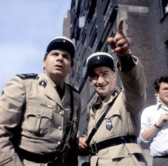 Louis de Funès and Michel Galabru Le Gendarme à New York by Jean Girault, 1965