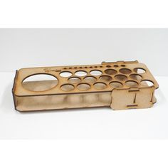 Ein Regal (Paint tray) für Farben aus Holz